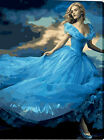 A Girl In Beautiful Blue Dress Needlepoint Canvas 367