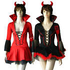 Roleplay - Naughty Diabla Little Devil Halloween Costume Horns Wand
