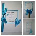PEACOCK FEATHER wedding : ORDER OF SERVICE / PROGRAMS / FANS ;60 colours/any qty