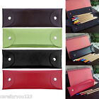 Retro Vintage Folding Pencil Pen Case Holder Cosmetic Pouch Pocket Makeup Bag c