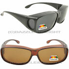 OVER GLASSES SUNGLASSES POLARISED OVER PRESCRIPTION WRAP SUN SHIELD DRIVING GOLF