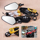 """2x Universal 7/8"""" 22mm Motorcycle Bar End Side Rearview Mirrors fit for Yamaha"""