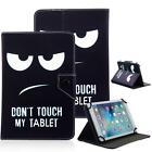 "Don't Touch My Tablet 8"" Universal Leather Box Case For Acre/Alcatel/ASUS/Amazon"