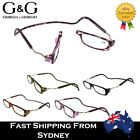 Funky G&G Unisex Magnetic Reading Glasses Flexible Frame 1.5 2.0 2.5 3.0 3.5 4.0
