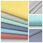 LOVELY grey, mint, turquoise and yellow on white 100% COTTON FABRIC chevron mini