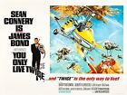 Home Wall Print - Movie Film Poster - YOU ONLY LIVE TWICE BOND 007 - A4,A3,A2,A1 £4.99 GBP