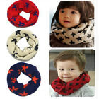Kids Winter Scarf Neckerchief Toddler Knitted Woolen Neck Warmer O Ring Shawl