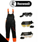 Chainsaw Protection Forestry Safety Protection Bib & Brace Trousers and Glasses