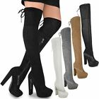 Womens Ladies Thigh High Boots Over The Knee Party Platforms High Heels Size