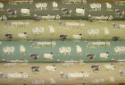COTSWOLD SHEEP Linen Look Cotton Fabric Curtain Blinds Upholstery Quilting Craft