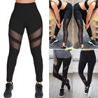 Womens Sports YOGA Workout Gym Fitness Mesh Leggings Pants Athletic Clothes S062