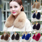 Winter Women Real Fox Fur Collar Scarf Shawl Stole Furry Neck Scarves Wraps Warm