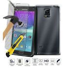 Tempered Glass + Ultra Thin Clear TPU Soft Protective Case Cover For Samsung