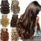 Beauty Lady Long Curly Wavy Straight Clip in Hair Extensions 8Pcs for human sd6