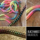 FREE HOOK Rainbow Dreadlock Twist Wrap dread lock bead cuff clip peace gay pride