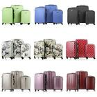 3 Pcs Luggage Hard Shell Lightweight Travel Trolley Suitcase Set Cabin Case
