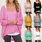 Fashion Women Fashion Casual Long Sleeve Pullover Plus Size Baggy Thin Sweater