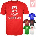 KEEP CALM & GAME ON PS3 CONTROLLER FUNNY MALE MENS T SHIRT S M L XL XXL