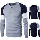 Men's Boys Sweater New Jumper Sweat Shirt Sweatshirt Pullover Button Tops XS-XL