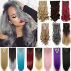 Thick 170g Hairpiece Clip in Full Head Clip in Hair Extensions Human love sn10
