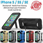 iPhone 5 5S SE Armor Phone Case Cover Kickstand Shockproof Rugged Tradesman Card