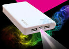 100000mAh External Power Bank Backup 2USB Battery LED Charger For Phone For Sony