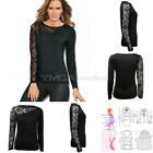 Pretty Women's Lady Slim Long Sleeve Casual Blouse Shirt Tops New Fashion Blouse