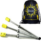 3x PULSAR Fire Juggling Torches Pro Juggling Fire Torch Set of 3 + Bag