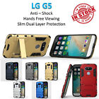 LG G5 Iron Armor Phone Case Cover Kickstand Shockproof Rugged Tradesman Tough