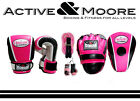 MORGAN LADIES STARTER PACK BOXING GLOVES PINK FOCUS PADS UFC MMA PT HOME GYM