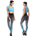 Women Sport Leggings Gradient Ramp Lady High Waist Stretched Gym Fitness Pants