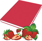 Strawberry Scented Stretch Fabric Book Sox Cover Jumbo Fuchsia Red Pink Solid