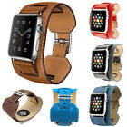 Cuff Leather Wrist Band watchbands Bracelet Straps For Apple Watch 38mm/42mm new