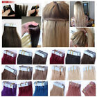 """20pcs16""""18"""" 20"""" 22"""" 24"""" Straight PU Tape In Remy AAA 100% Human Hair Extensions"""