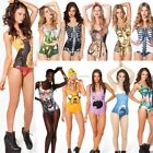 Women Sexy One Piece Elastic Swimwear Underwear Monokini Bikini Swimsuit EN24H