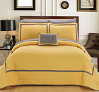 6 Pc Mesa Hotel Collection Quilt in a bag Twin Quilt Set Yellow Shams