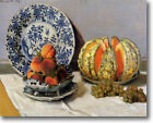 HUGE Monet Still Life with Melon Stretched Canvas Giclee Art Repro ALL SIZES