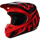2017 Fox MX Youth V1 Helmet - Race Red Kids Motocross Offroad Peewee