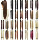 Women Claw Ponytail Hair Extensions Heat Resistant Synthetic Straight 55cm