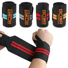 WEIGHT LIFTING BAR STRAPS GYM BODYBUILDING FITNESS WRIST SUPPORT WRAPS BANDAGE