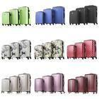 Luggage Set 3Pcs Suitcase ABS +PC Hard Shell Lock Wheels Travel Trolley Bag W7D5