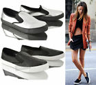 WOMENS LADIES GIRLS FLAT CASUAL SLIP ON SKATE SNEAKER FLAT PUMPS SHOES SIZE