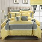 Chic Home Aida Quilted Room In A Bag Comforter Bed Sheet Set Yellow