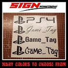 PlayStation Gamertag Decal / Sticker customizable your username game tag gamer