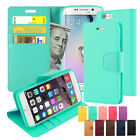 Card Pocket Diary Slim Flip Leather Wallet Case Cover For iPhone Galaxy LG