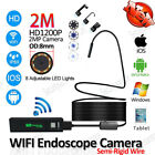 WIFI 8mm IP67  Endoscope Borescope Snake Inspection Camera Scope Android Iphone