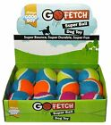 GOOD BOY GO FETCH SUPER BOUNCE TENNIS DOG TOY BALL 6 OR 12 PK FITS THROWER FLOAT