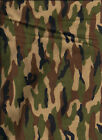 """Green and Pink Camouflage Camo Flannel 6.5"""" inch Quilting Squares"""