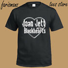 New Joan Jett and The Blackhearts Rock Music Men's Black T-Shirt Size S to 3XL image