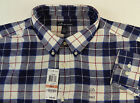 John Ashford Long Sleeve 100% Cotton Plaid Flannel Shirt w Chest Pocket 9 Colors